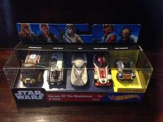 Hot wheels Star Wars heroes of the resistance 5 pack