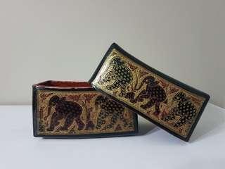 Burmese Lacquer Pillow Box