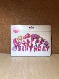 Happy Birthday New Born/ Baby Foil Balloon Set