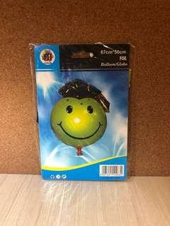 Graduation Smiley Face Foil Balloon