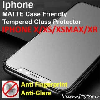 🚚 Iphone X/XS/XSMAX/XR Matte Screen Protector Case Friendly