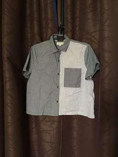 Contrast Crop Shirt