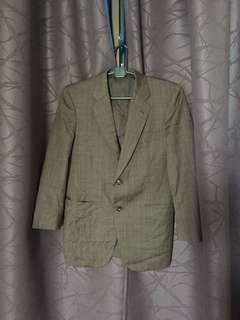 Vintage Brown Plaid Blazer