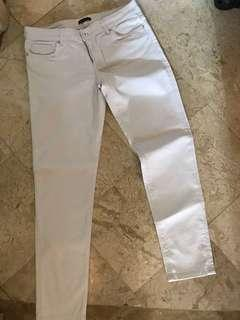 Massimo Dutti white jeans