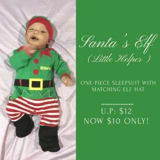 Santa's Elf Christmas Romper