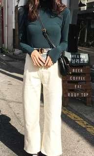 🚚 #811 Korean Style Turtleneck Long Sleeved Tshirt