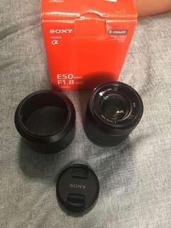Sony e-mount lens 50mm f/1.8 OSS
