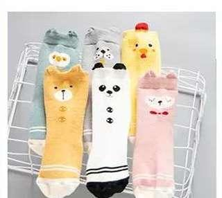 🚚 春秋冬嬰幼兒可愛中筒襪