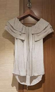 Club monaco back ribbon blouse