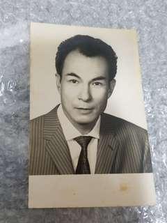 古老 原裝影視明星相 石堅 (永恆的奸人堅) Shih Kien Original Vintage Photo, a famous actor in HK in mid of 50s