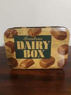 Vintage rowntrees dairy box tin