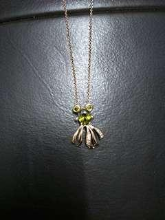 Green Octopus Rose Gold Necklace #OCT10
