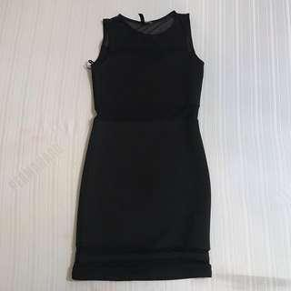 H&M BODYCON NEOPRENE DRESS FITS S