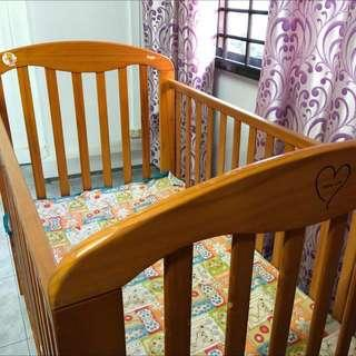 Wooden cot-mama love