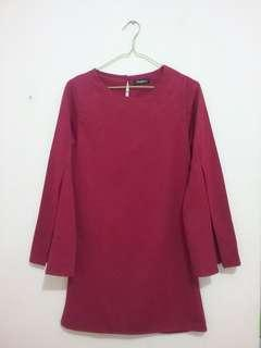 Mini Dress Maroon