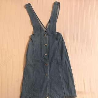 DENIM ROMPER DRESS FITS 24-25