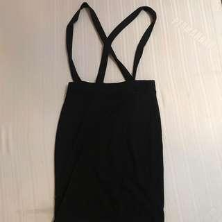 F21 SUSPENDERS ROMPER DRESS M ON TAG FITS 24-27