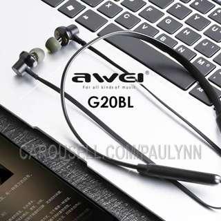 Awei G20BL Bluetooth Earphone Wireless Sports Headset Gym Headphone
