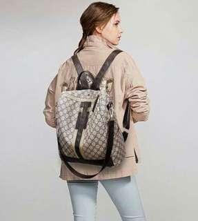 Korean backpack w/shoulder bag