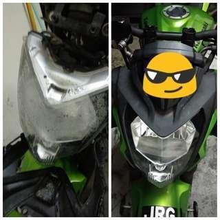 Cermin lampu depan (headlamp) z250sl dan ninja 250sl