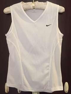 Nike sports sleeveless white top