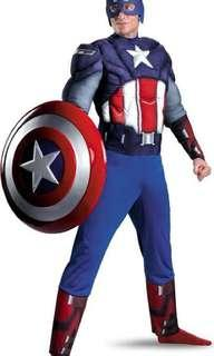 Captain America Padded Costume with Muscle Cosplay For Rent