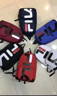 Free delivery Ready Stock Fila back pack school bag