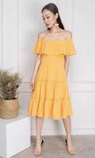 OLIVIA MARIGOLD OFF-SHOULDER DRESS