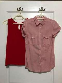 Set of 2: H&M and Forever21 Blouses