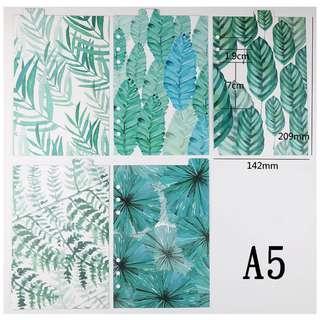 A6活頁手帳分隔板 (植物花園款)