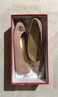 COACH - Nude Patent Flats - Size 6 (NEW)