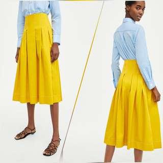 🚚 [FINAL SALES] Zara Basic high waist pleated skirt (INSTOCK) <urgent clearance, reduced pricing>