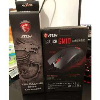 Msi微星 全新未拆封滑鼠加滑鼠墊 600元