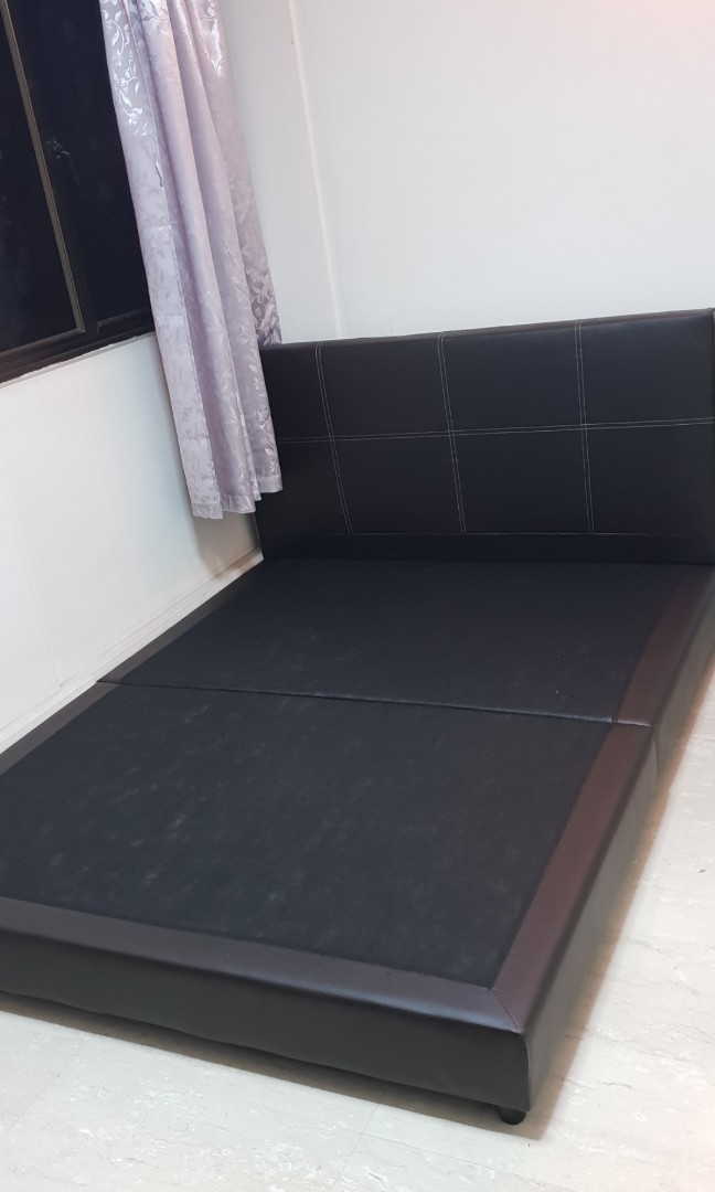 f14df5fbd8ad 99% new bed frame queen size bedframe, Furniture, Beds & Mattresses ...