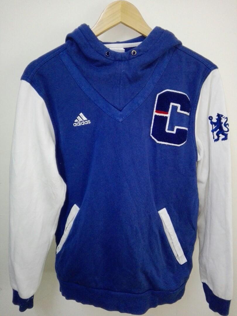 size 40 a2f46 32ec2 Adidas Chelsea Football Club Sweatshirt Hoodie