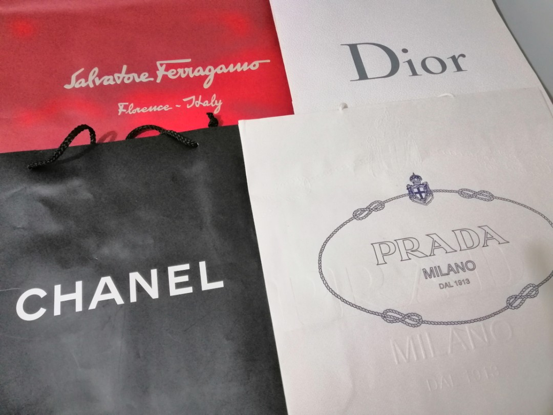 9bb9f6a05858 Authentic Designer Paper Bags (Large), Luxury, Bags & Wallets ...
