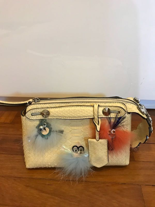 f64fe4c48238 Authentic Fendi Snakeskin Mini By The Way