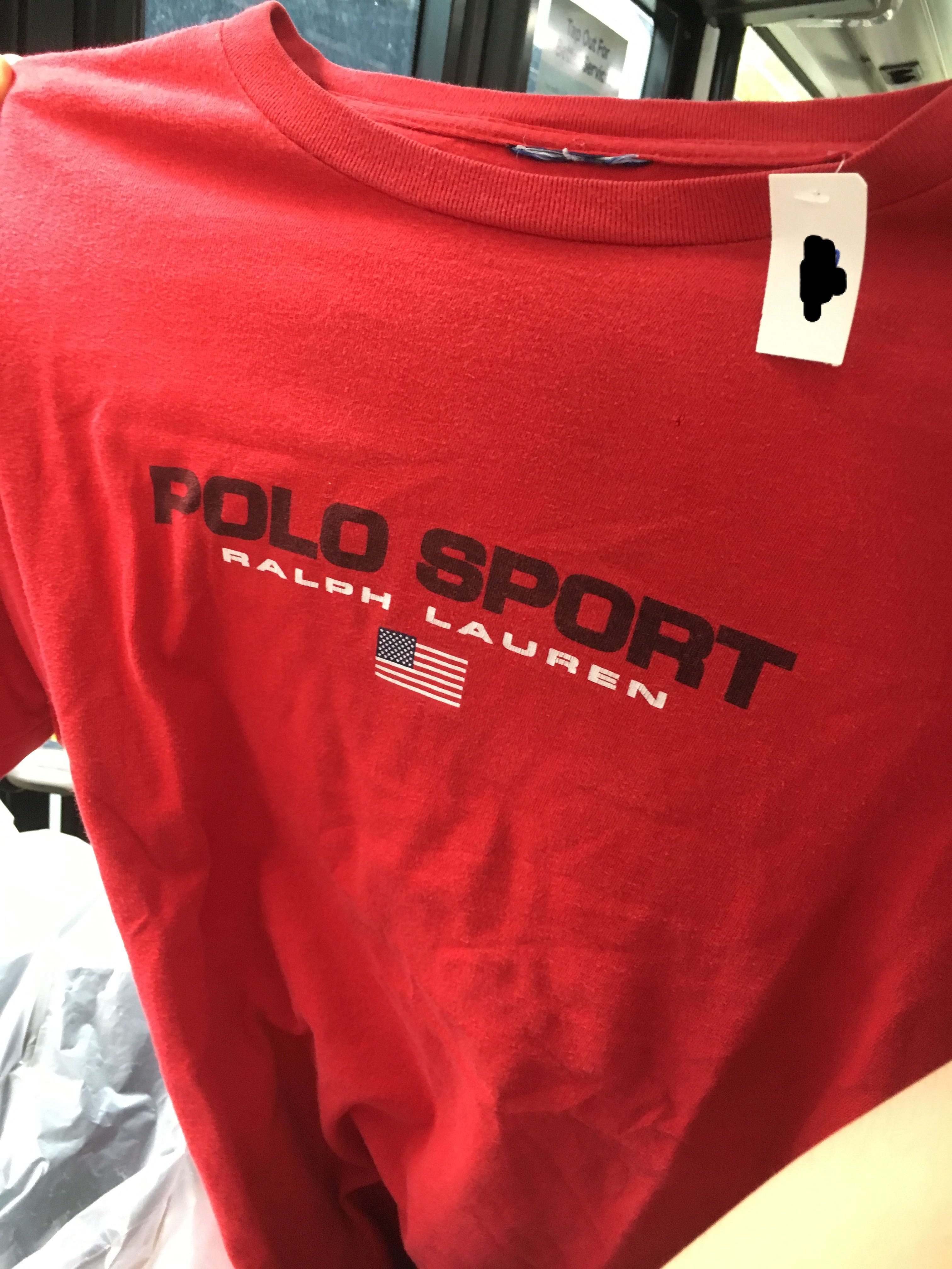 14fa382c73319 Authentic RED Ralph Lauren Polo Sport Tee