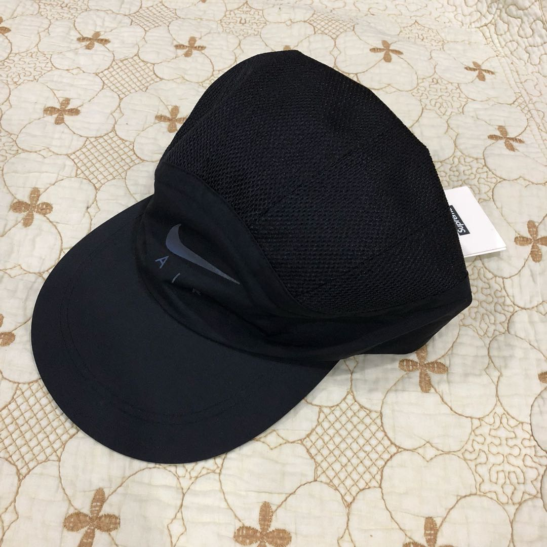 10b556fe Authentic Supreme x Nike Trail Running Hat Black, Men's Fashion,  Accessories, Caps & Hats on Carousell