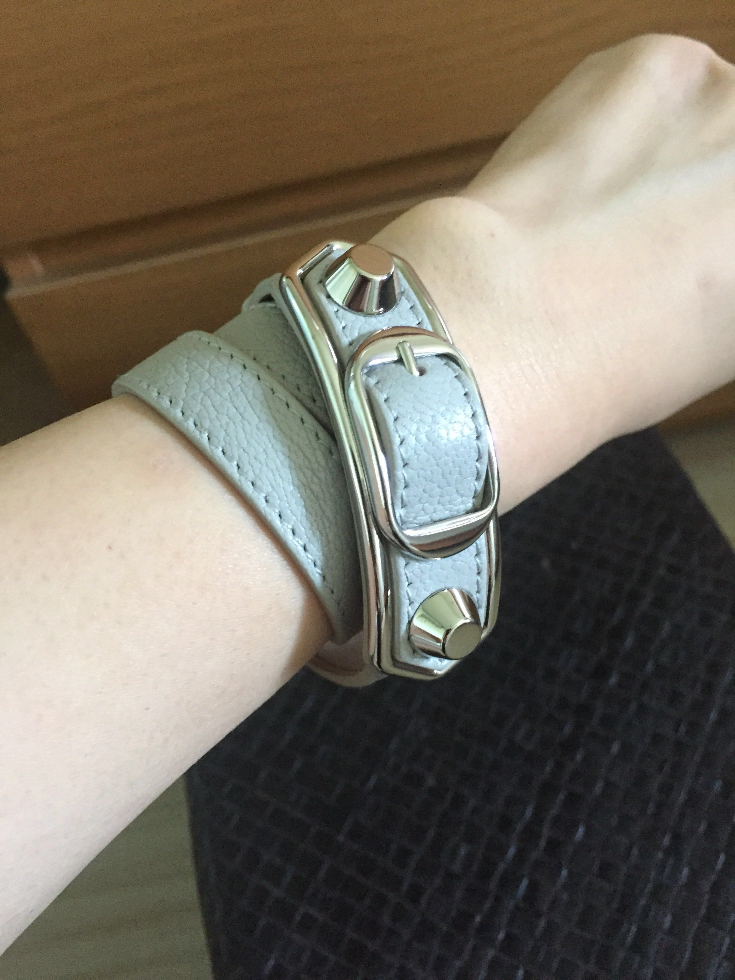 459052d434bbd Balenciaga Triple Tour Leather Bracelet