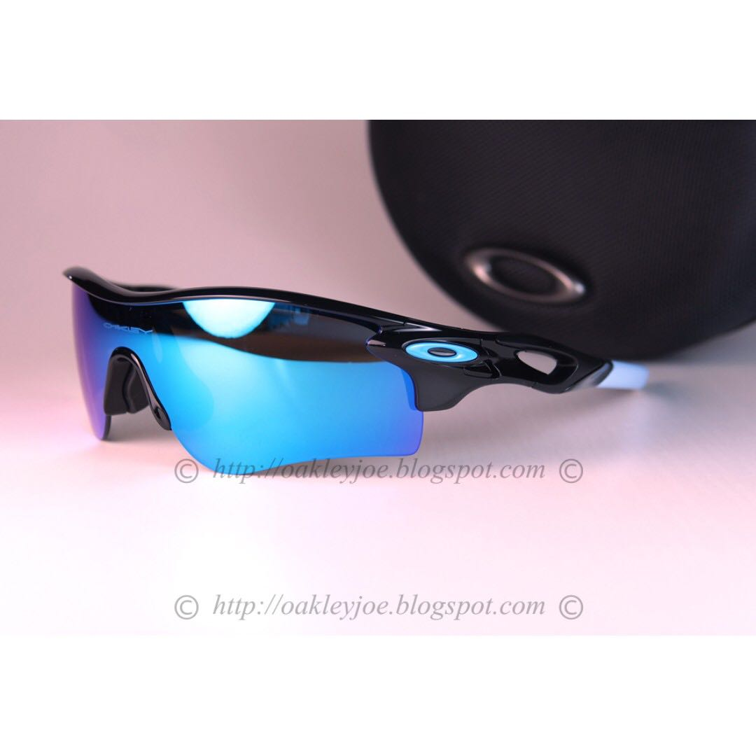 52834a0e29 BINB Oakley Radarlock Path Asian Fit Custom polished black + sapphire  iridium sunglass shades