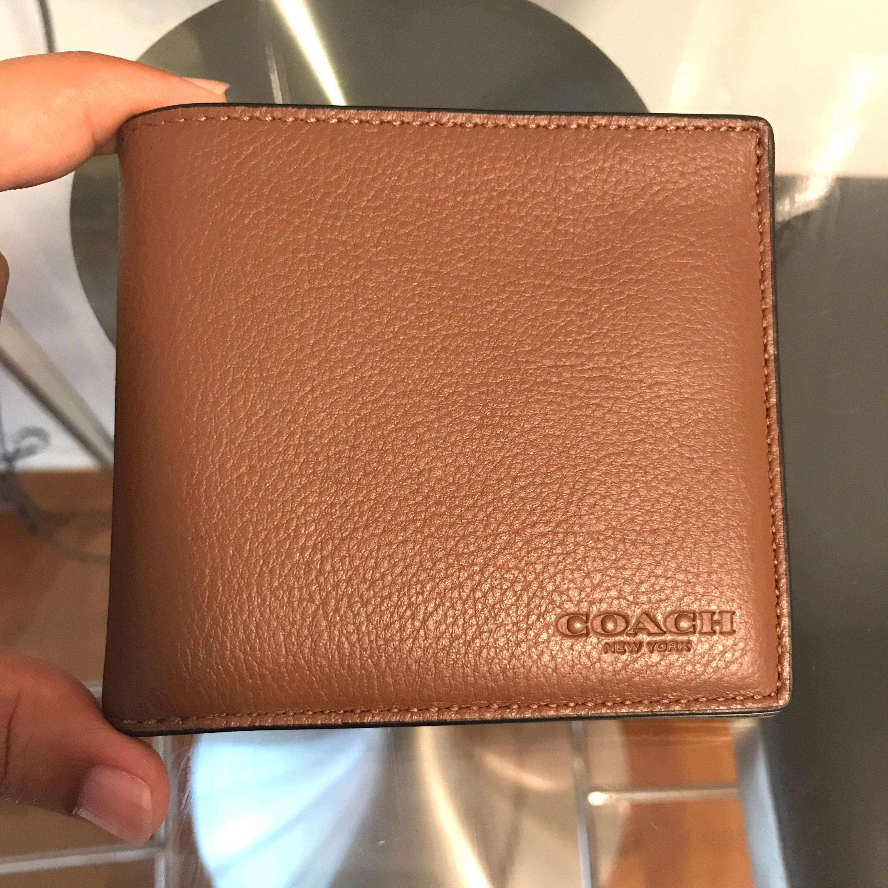 02786718d9153 BN 💯 Authentic Coach Mens billfold wallet in Saddle sport Calf ...