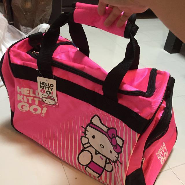 BN Hello Kitty Sports Duffle Bag Light Pink 4bec1ff19732a