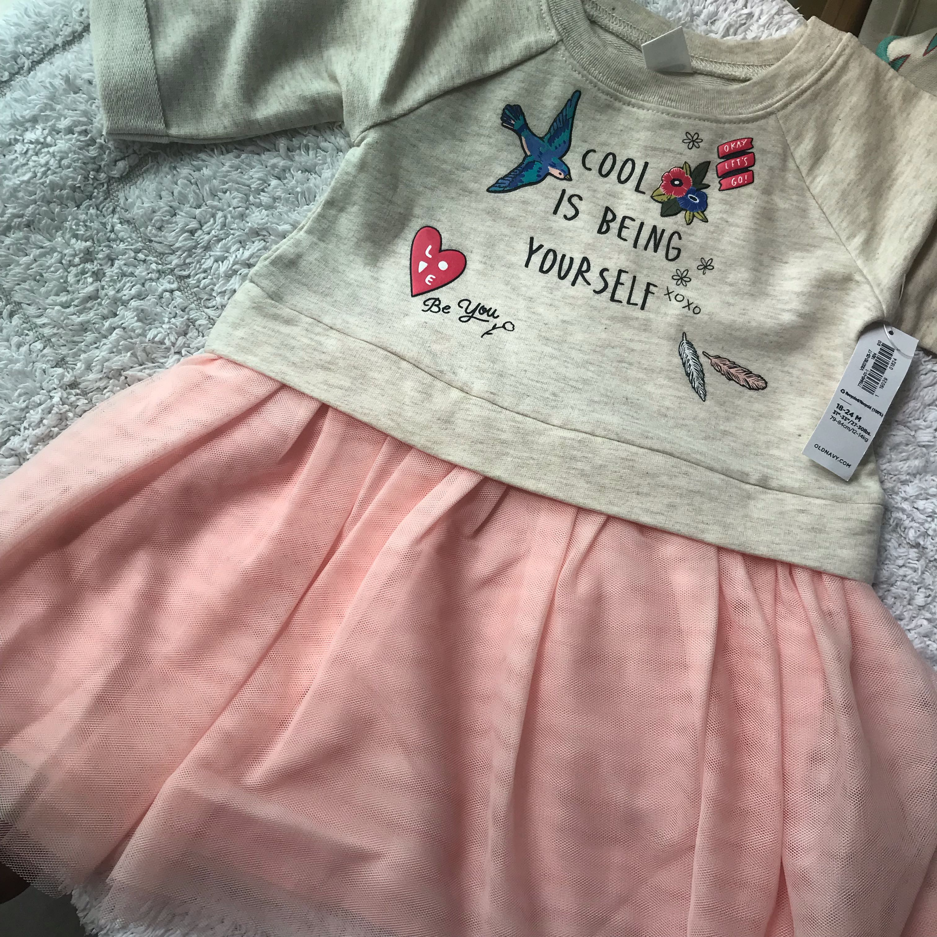 5b785b023bf4 BN Old Navy Baby Girl  Cool being yourself  Tutu Coral Dress 18 ...