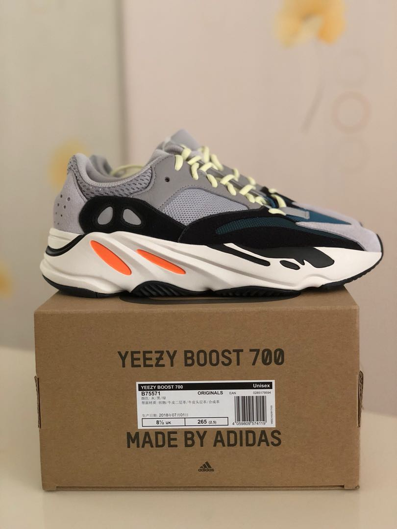 e529b478f BNIB Adidas Yeezy Wave Runner 700 Solid Grey OG Us9