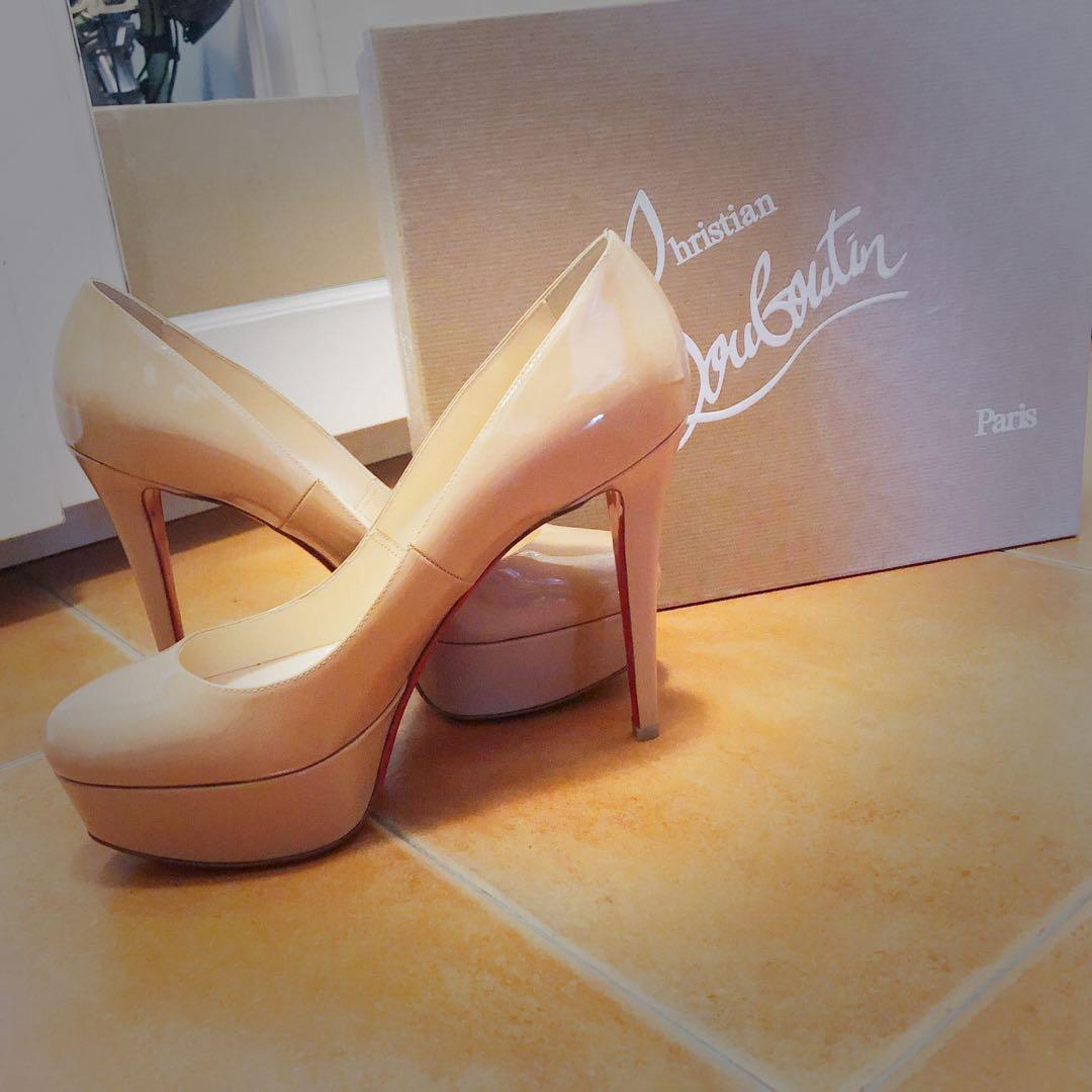 ea42da7e29f8 BNIB Christian Louboutin Nude Bianca 120 Patent Calf heels
