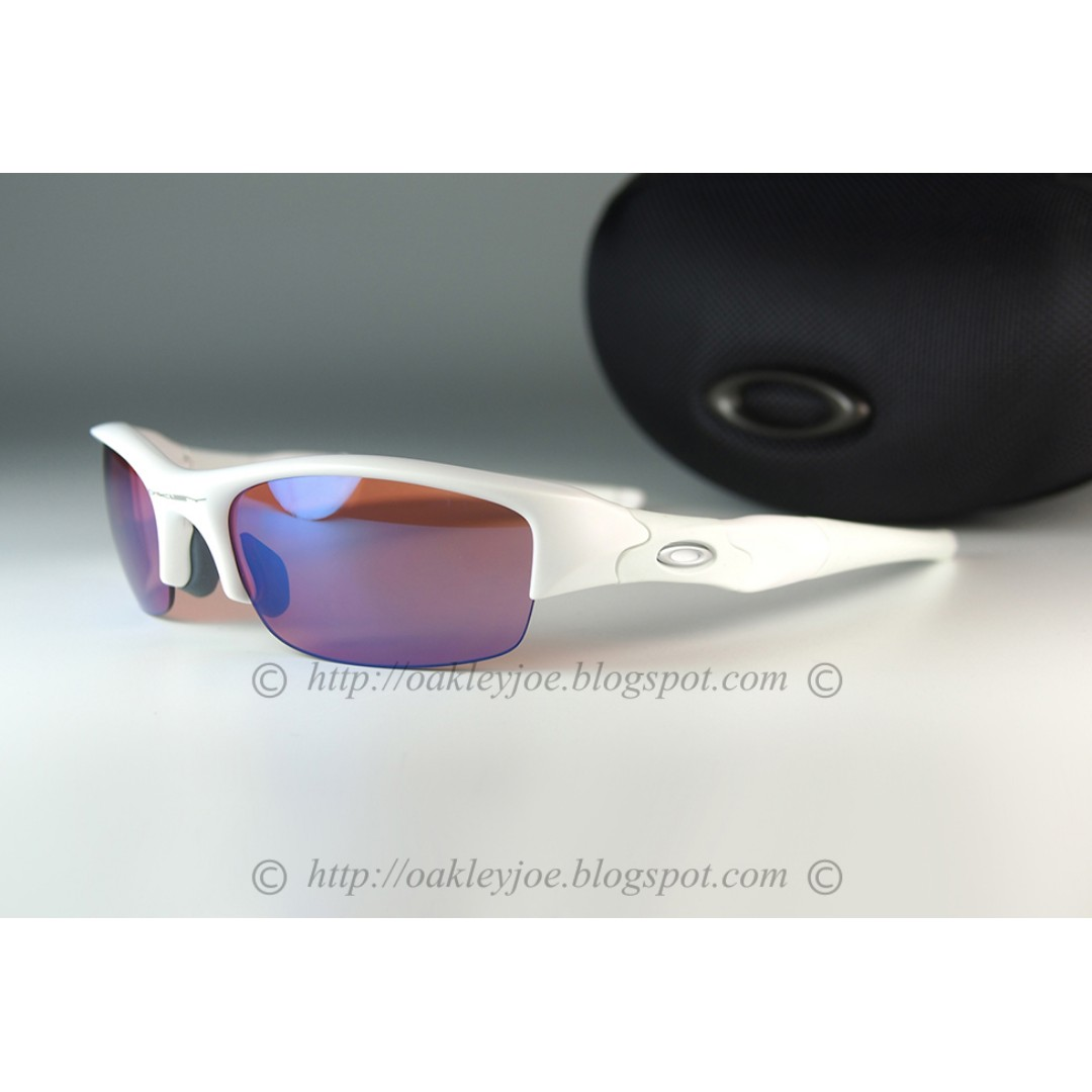 990a3c54c9 BNIB Oakley Custom Flak Jacket matte white + G30 golf lens sunglass shades