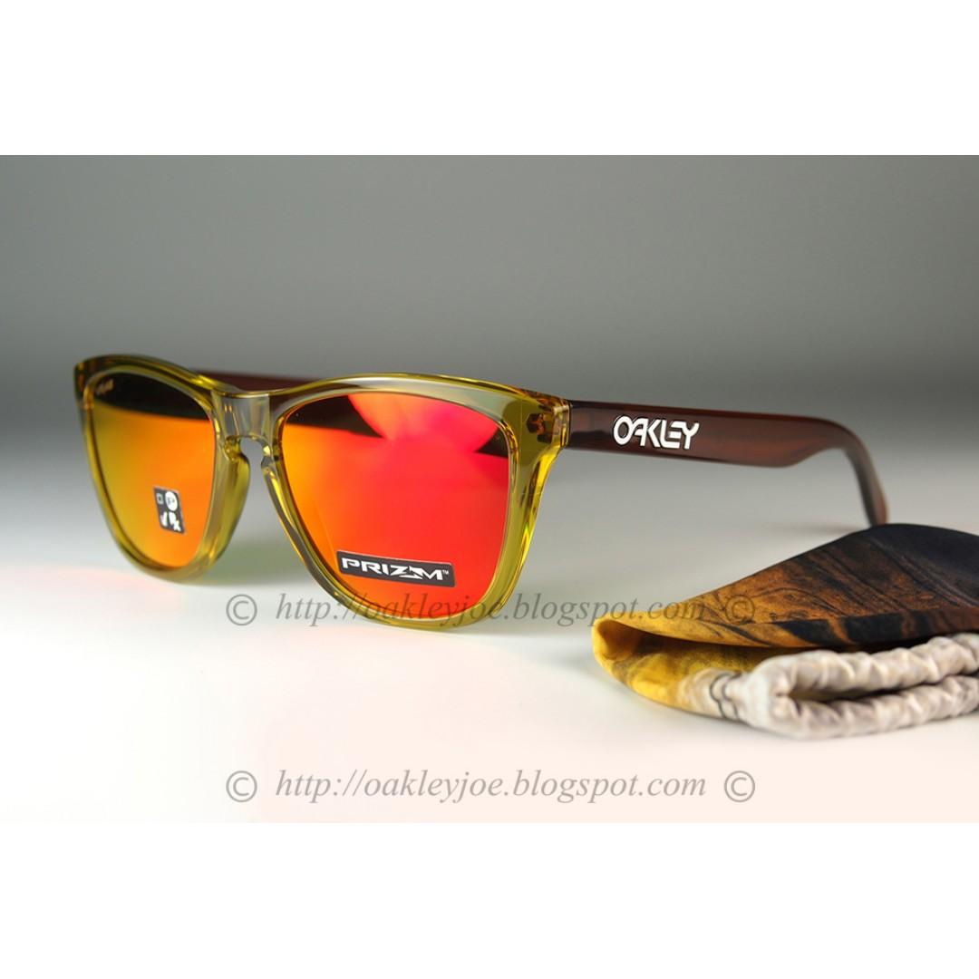 4849473125 BNIB Oakley Custom Frogskins octane + prizm ruby iridium sunglass shades