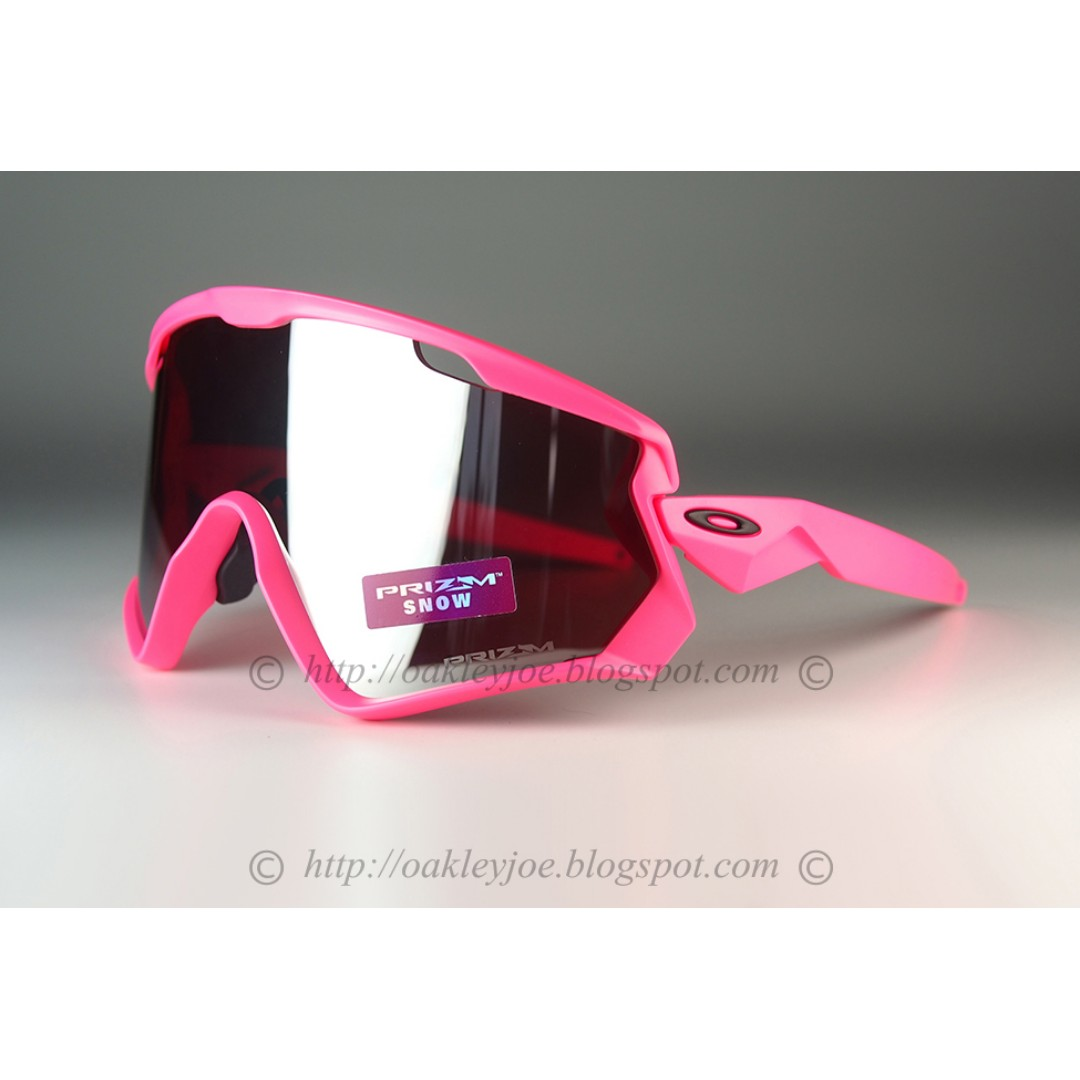 dad3f502c0 BNIB Oakley Custom Wind Jacket matte neon pink + prizm black iridium  sunglass shades