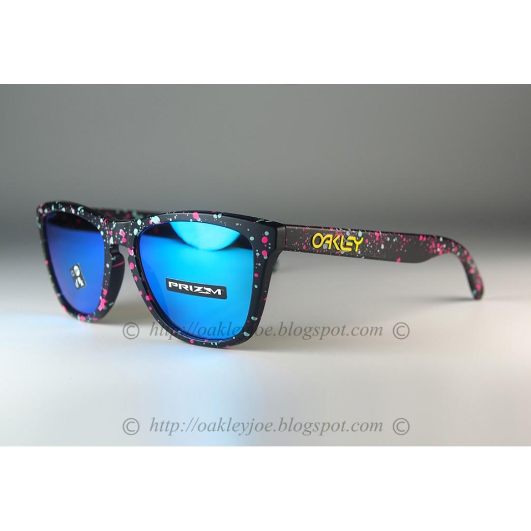 3f6a6afce1 BNIB Oakley Frogskins splatterfade + prizm sapphire iridium OO9013 ...